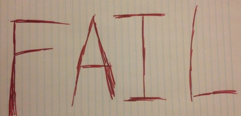 fail written on lined paper