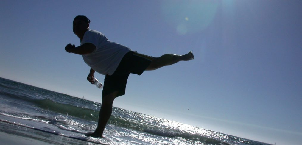 exercise by the beach